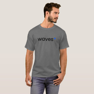 Waves Cryptocurrency Blockchain Grey T-Shirt