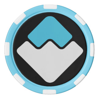 WAVES Cryptocurrency Clay Poker Chip