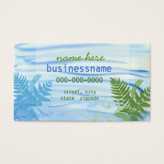 Waves & Ferns Profile Card