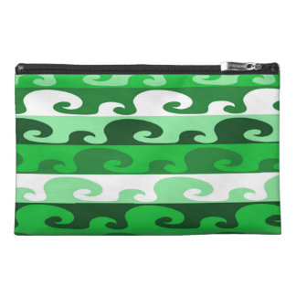 Waves (green) travel accessory bags