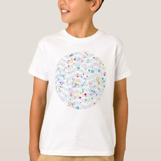 Waves -happy dots- Custom Your Color- KIDS T-Shirt