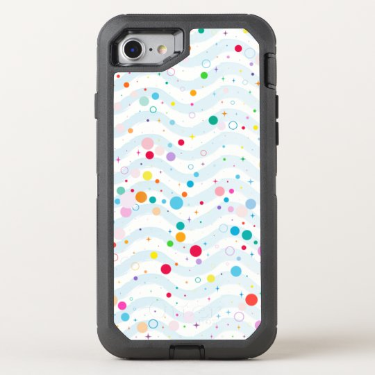 Waves -happy dots- OtterBox defender iPhone 7 case