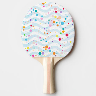 Waves - happy dots- ping pong paddle
