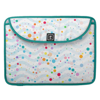 Waves - happy dots- sleeve for MacBook pro