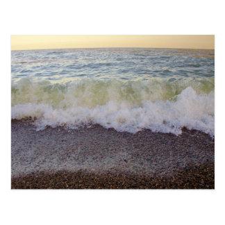 Waves Hitting the Beach Shore 2 Postcard