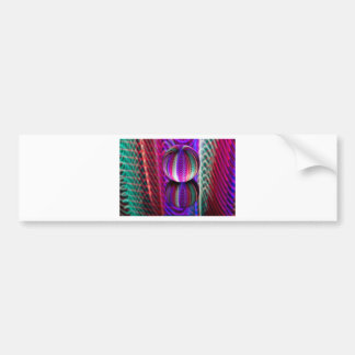 Waves in crystal ball bumper sticker