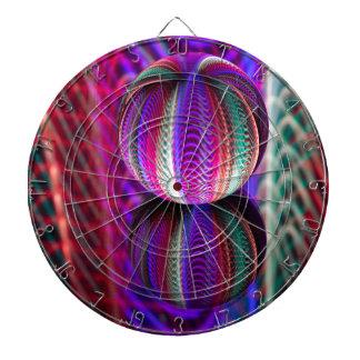 Waves in crystal ball dartboard
