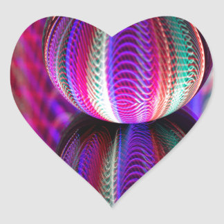 Waves in crystal ball heart sticker
