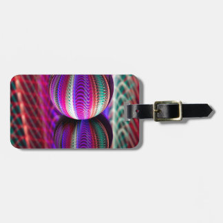 Waves in crystal ball luggage tag