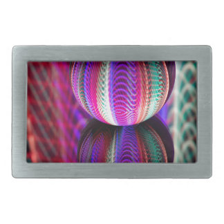 Waves in crystal ball rectangular belt buckle