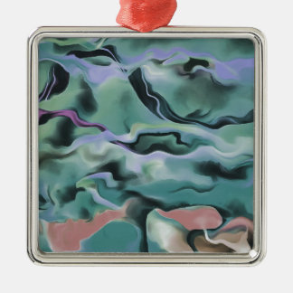 Waves In Harmony Metal Ornament