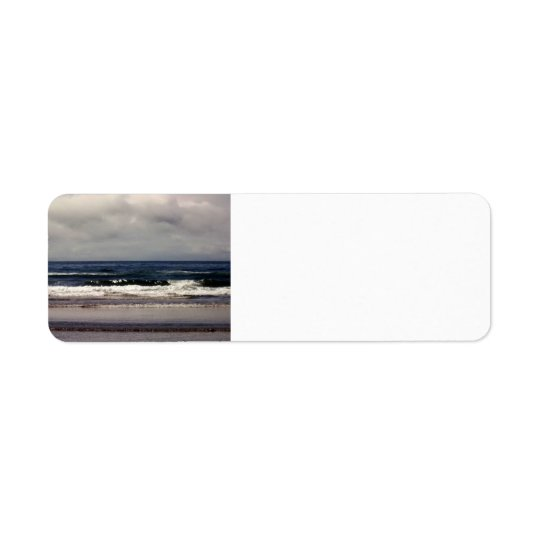 Waves in the Pacific Ocean Return Address Label