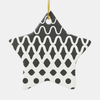Waves into Particles Ceramic Star Ornament