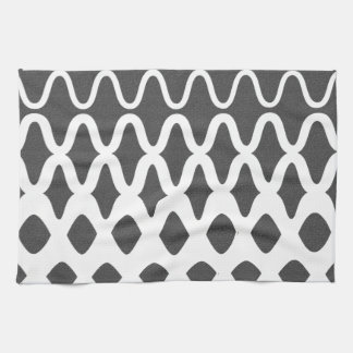 Waves into Particles Kitchen Towel