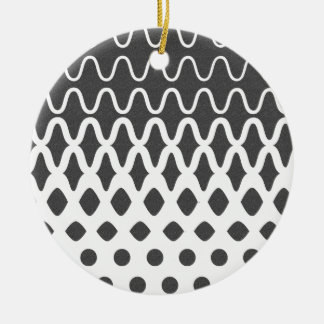 Waves into Particles Round Ceramic Ornament