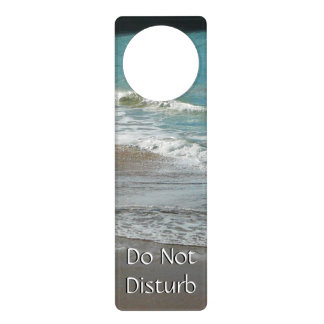 Waves Lapping on the Beach Turquoise Blue Ocean Door Knob Hangers
