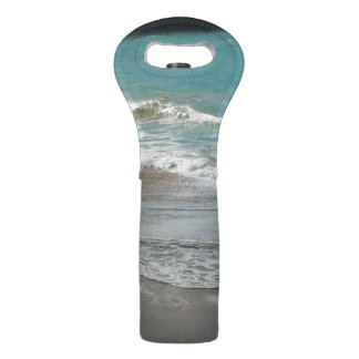 Waves Lapping on the Beach Turquoise Blue Ocean Wine Bag