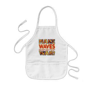 Waves Make X Kids Apron