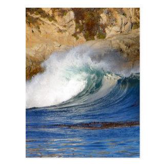 Waves Near Monterey Postcard