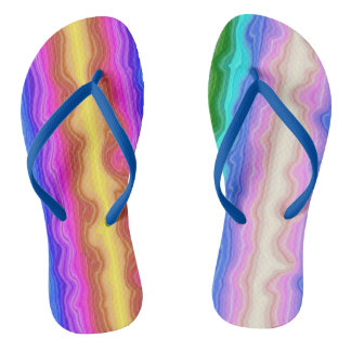 Waves of Colour Flip Flops