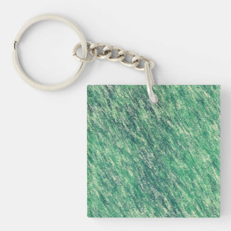 Waves Of Green Keychain