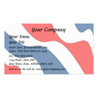 Waves of Patriotism - business card template