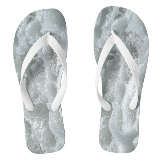 Waves of the sea - Seashore Flip Flops