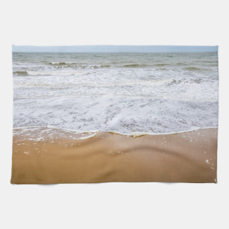 Waves on a beach kitchen towel