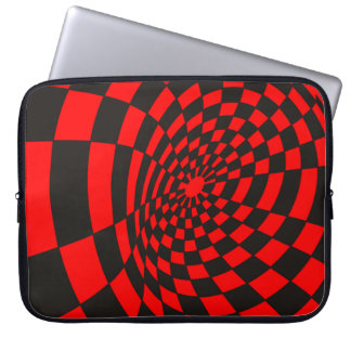 Waves on a Checkerboard Laptop Sleeve