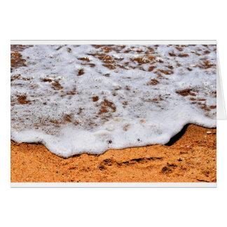 WAVES ON BEACH QUEENSLAND AUSTRALIA CARD