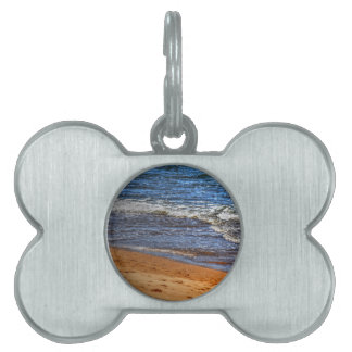 WAVES ON BEACH QUEENSLAND AUSTRALIA PET NAME TAGS