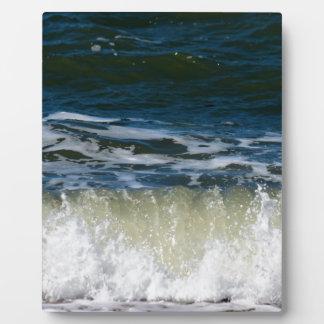 WAVES ON BEACH QUEENSLAND AUSTRALIA PLAQUE