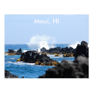 Waves on Maui Coast Postcard