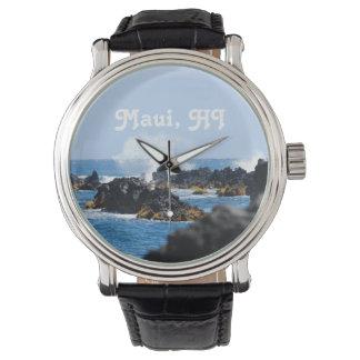 Waves on Maui Coast Wristwatch