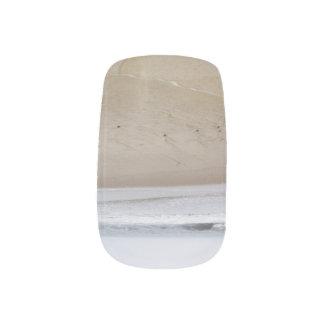 Waves on the Beach Minx Nail Art