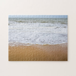 Waves on the beach photo puzzle