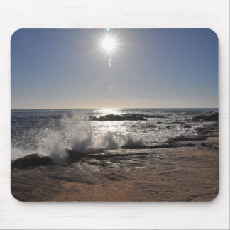Waves on the Rocks Mouse Pad