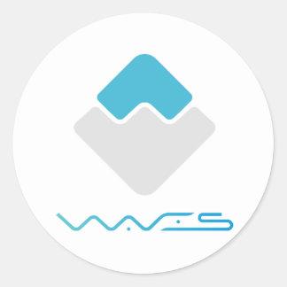 WAVES Round Sticker (Light)