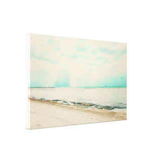 Waves, Sand, and Sky at Higgs Beach in Key West FL Canvas Print