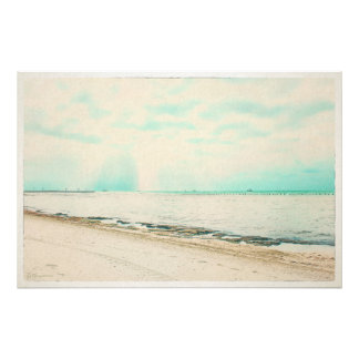 Waves, Sand, and Sky at Higgs Beach in Key West FL Photo Print