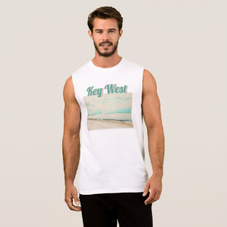 Waves, Sand, and Sky at Higgs Beach in Key West FL Sleeveless Shirt