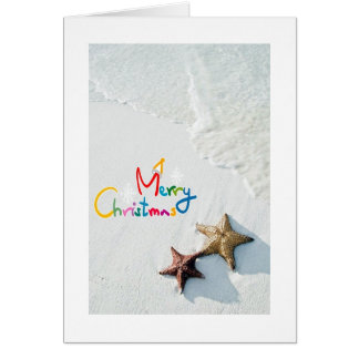 WAVES/STAR FISH GREETINGS AT CHRISTMAS AC MILES CARD