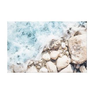 Waves | Stones | Rocks | Ocean Canvas Print