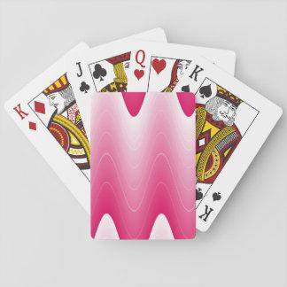 Wavie Pink Playing Cards