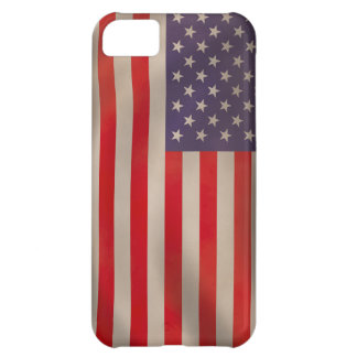 Waving American Flag Case For iPhone 5C