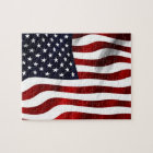 Waving American Flag Jigsaw Puzzle