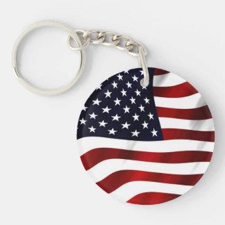 Waving American Flag Key Chains
