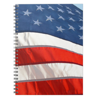 Waving American Flag Notebook