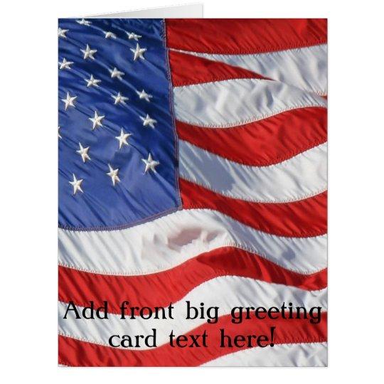 Waving American Flag Patriotic Card