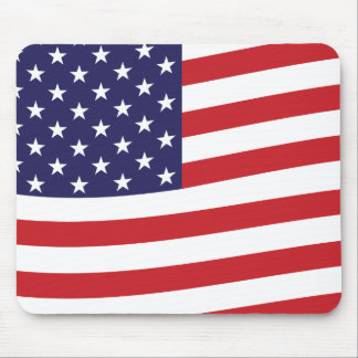 Waving American Flag USA Banner Home of The Free! Mouse Pad